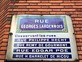 Rue Georges-Lardennois (Paris) - plaque.JPG