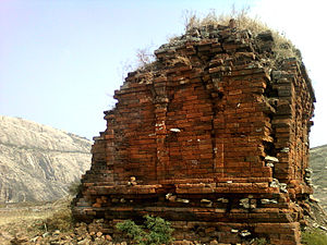 Ramateertham - A view of Ruined Jain temple on Bodhikonda
