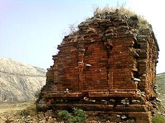 Ramateertham - A view of Ruined Jain temple on Bodhikonda