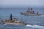 Russian cruiser Marshal Ustinov and HMS St Albans MOD 45165061.jpg
