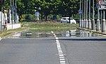 Ruzyně, Laglerové, zrcadlení nad vozovkou (02).jpg