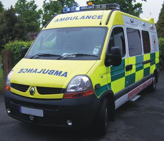 British Red Cross - British Red Cross ambulance