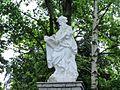 Rzeźby Apostołów przy Golgocie w Sanktuarium.JPG