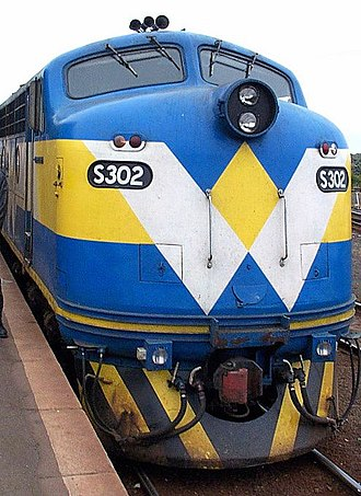Victorian Railways S class (diesel) - West Coast Railway liveried S302 in 2001