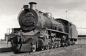 South African Class 19A 4-8-2 - Class 19A no. 685 at De Aar, 16 October 1978