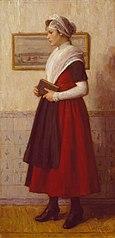 Burgerweesmeisje met kerkboek
