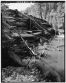 SIDE VIEW- DOWNSTREAM FACE OF DAM-1980 - Aspaas Dam, Tacoma, La Plata County, CO HAER COLO,33-TAC.V,2-9.tif