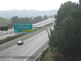 California State Route 56 - SR 56 west at the Carmel Creek Road interchange