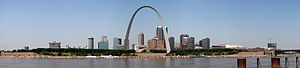 English: Panorama of St. Louis, Missouri, Unit...