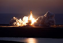 The launch of STS-102