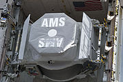 STS-134 closeup of AMS-02 in space shuttle Endeavour's payload bay