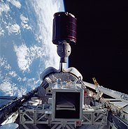 STS-51-G Morelos 1 deployment