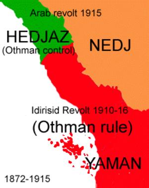Idrisid Emirate of Asir - Image: Sa mapa 5