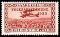 Saar 1934 195 Volksabstimmung, Flugpost Breguet 14.jpg
