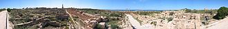 Sabratha - Panoramic image of a part of the archaeological site