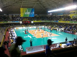 2013 FIVB Volleyball Men's Club World Championship - Image: Sada Cruzeiro UPCN 2013 10 19