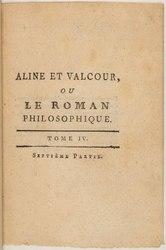 Marquis de Sade: Aline et Valcour, ou Le roman philosophique.