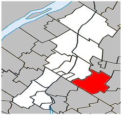Location within La Vallée-du-Richelieu RCM