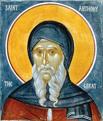 Christian monasticism - Icon of Saint Anthony the Great, the founder of Christian monasticism
