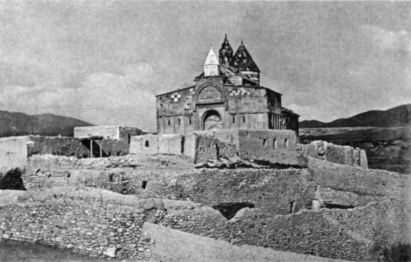 Saint Bartholomew Monastery at the site of the Apostle's martyrdom in historical Armenia, now ruinous Saint Bartholomew Monastery general view.png