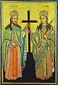 Saint Constantin and Helena, mother of Constantine I icon, Syria (14th Century).jpg