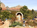 Saint John Vianney Parish (Sedona, Arizona), Mary Garden and landscape.jpg