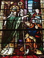 Saint Patrick Catholic Church (Columbus, Ohio) - stained glass, St. Patrick baptizing the king.JPG