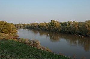Sakmara River - Sakmara River near Saraktash, Russia