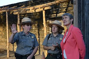 Sally Jewell - Sally Jewell at Mission San Jose (21625857014)