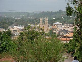 Saltpond Town in Central Region, Ghana