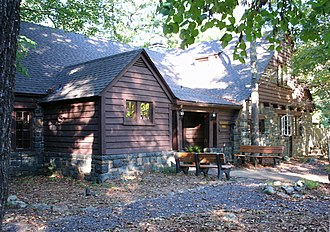 Sam A. Baker State Park - Dining lodge made of native stone and wood