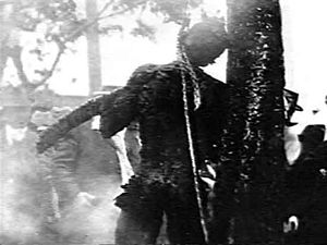 "Lynching of Sam Hose - The public lynching of Samuel ""Tom"" Wilkes, in 1899."