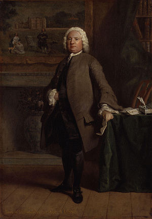 English novel - Portrait of Samuel Richardson by Joseph Highmore.National Portrait Gallery, Westminster, England.