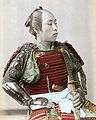 Samurai hand colored c1890.jpg