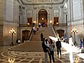 San Francisco City Hall - people in rotunda.JPG
