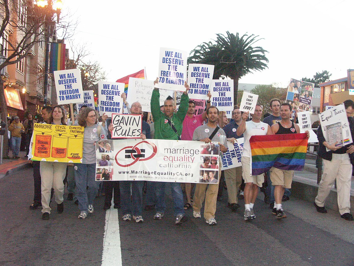 Pro Gay Marriage Protest
