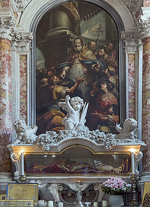 Jacopo Marieschi - Altarpiece of St John the Almoner, San Giovanni in Bragora, Venice 1743
