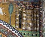San vitale, ravenna, int., presbiterio, mosaici dell'arcone 04 betlemme celeste 2.jpg