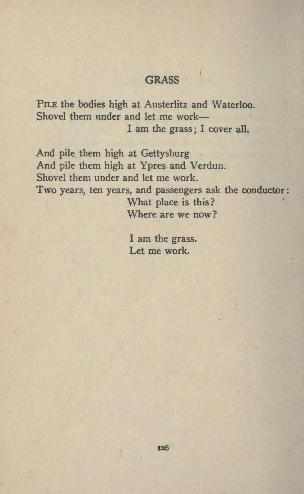 grass sandburg