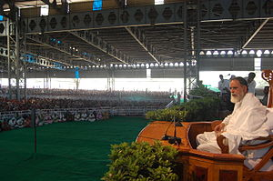 Kanwar Saheb - Kanwar Saheb getting ready to deliver Satsang at Radha Swami Dinod Ashram.