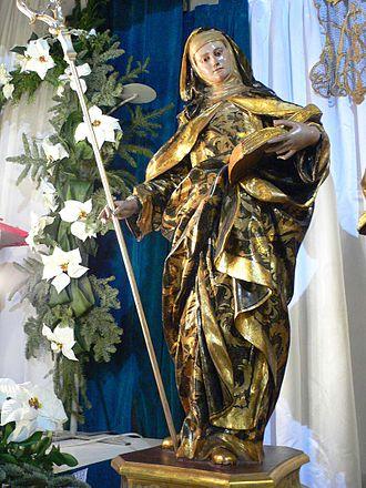 Saint Florentina - Statue from the church of Santa María de Gracia in Cartagena, Spain.