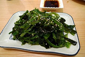 Edible seaweed - A dish of pickled spicy seaweed