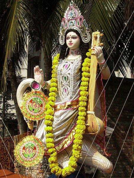 File:Saraswati with Vitarka Mudra.JPG