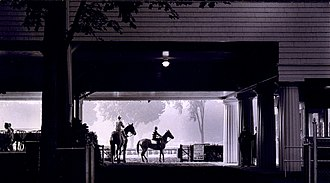 Saratoga Race Course - Dawn on the main track in 1963
