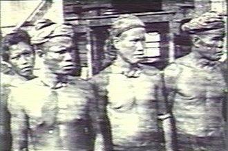 Lun Bawang - Four Lun Bawang tribesman from Sarawak, previously called Trusan Muruts, photos taken by ethnologist Charles Hose in 1896.