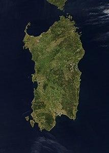 Cartina Satellitare Sardegna.Sardegna Isola Wikipedia