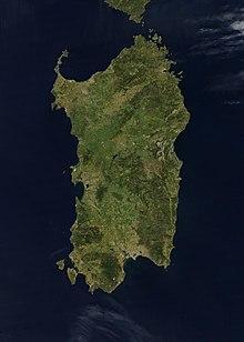 La Sardegna vista dal satellite