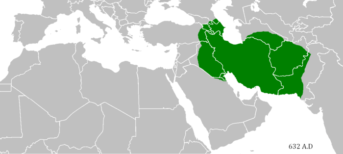 Extent of the Sasanian Empire in 632 SassanidEmpirebeforeArabConquest.png
