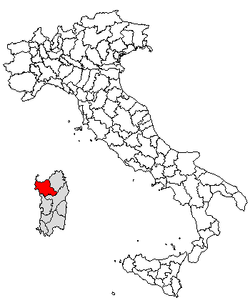 Location of Province of Sassari