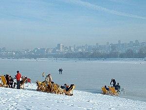 Ada Ciganlija - Lake Sava in winter